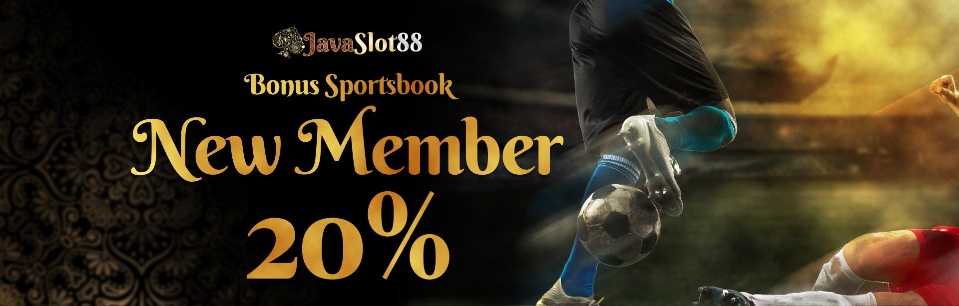 BONUS NEW  MEMBER SPORTSBOOK 20%